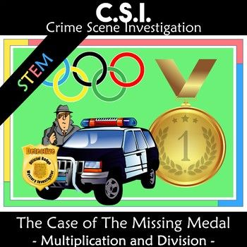 This CSI themed multiplication and division activity will engage students by taking them on a journey to solve Winter Olympic Games math problems and puzzles. Students narrow down the suspects by completing the activities and marking them off from the suspect list until one person is left.