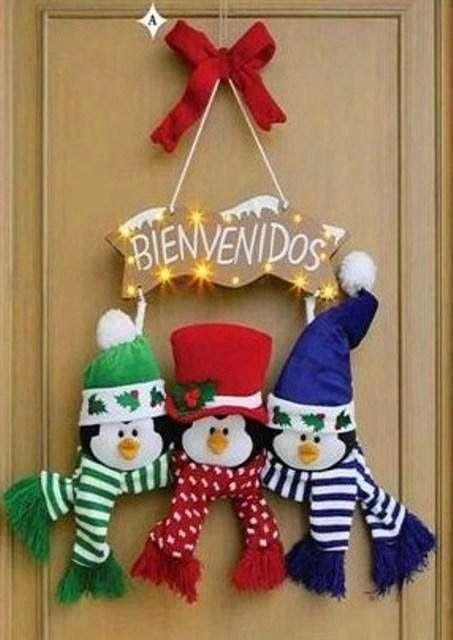 59 mejores im genes sobre moldes fieltro navidad en - Como hacer decoracion navidena para el hogar ...
