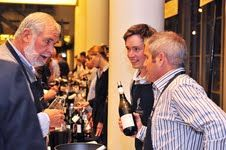 Peter Finlayson of Bouchard Finlayson and David Nieuwoudt of Cederberg at the CWG Showcase. Cool Climate Winemakers.