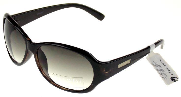 Nine West Oval Sunglasses Brown Marble 100% UV Protection Plastic 60-15-130