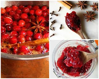 Gorgeous photo by Elizabeth of her cranberry sauce for Canadian Thanksgiving.