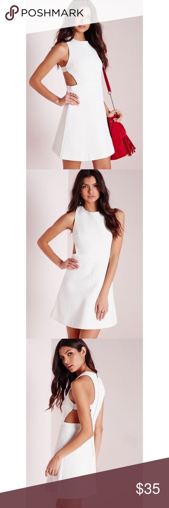 🆕 NWT Missguided Textured Neoprene Cut Out Dress Originally $51 • US 10 • Reasonable offers welcome Missguided Dresses