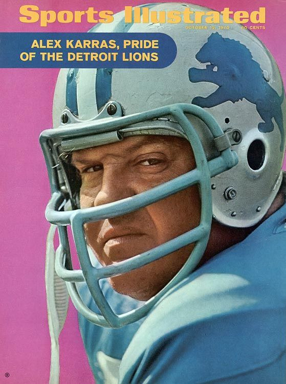 Alex Karras of the Detroit Lions, Sports Illustrated cover, 1970
