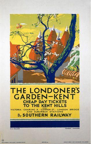 Kent - The Londoner's Garden by National Railway Museum - art print from Easyart.com
