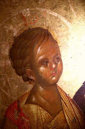 Богоматерь Надежда ненадежных (отчаявшихся). Византийская икона. Салоники. Фрагменты.