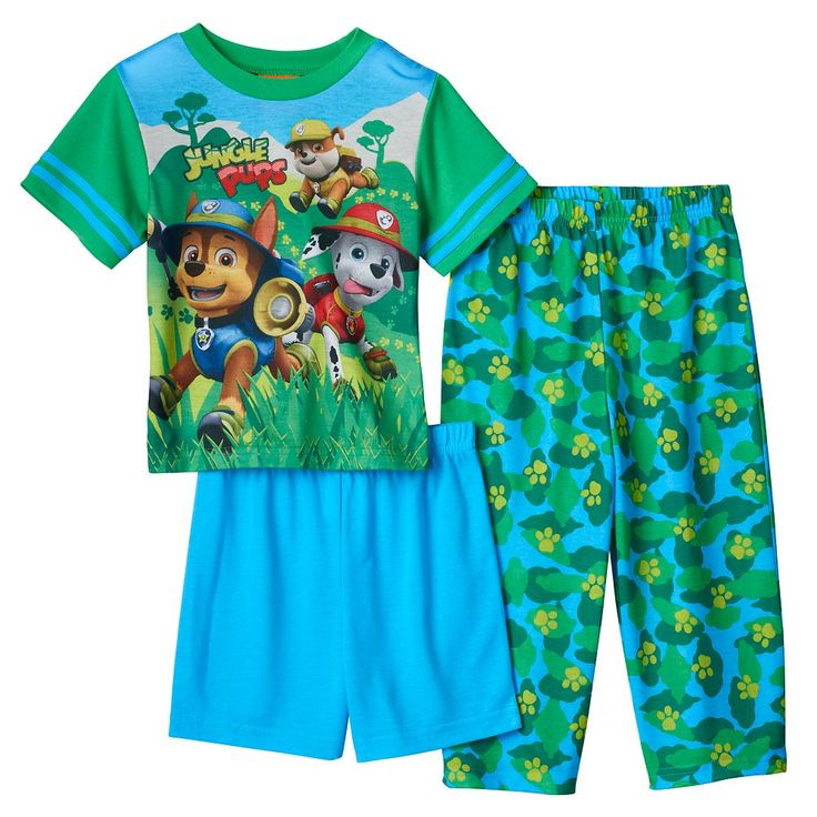 Toddler Boy Paw Patrol Tracker, Marshall & Rubble 3-pc. Pajama Set, Size: 2T, Multicolor