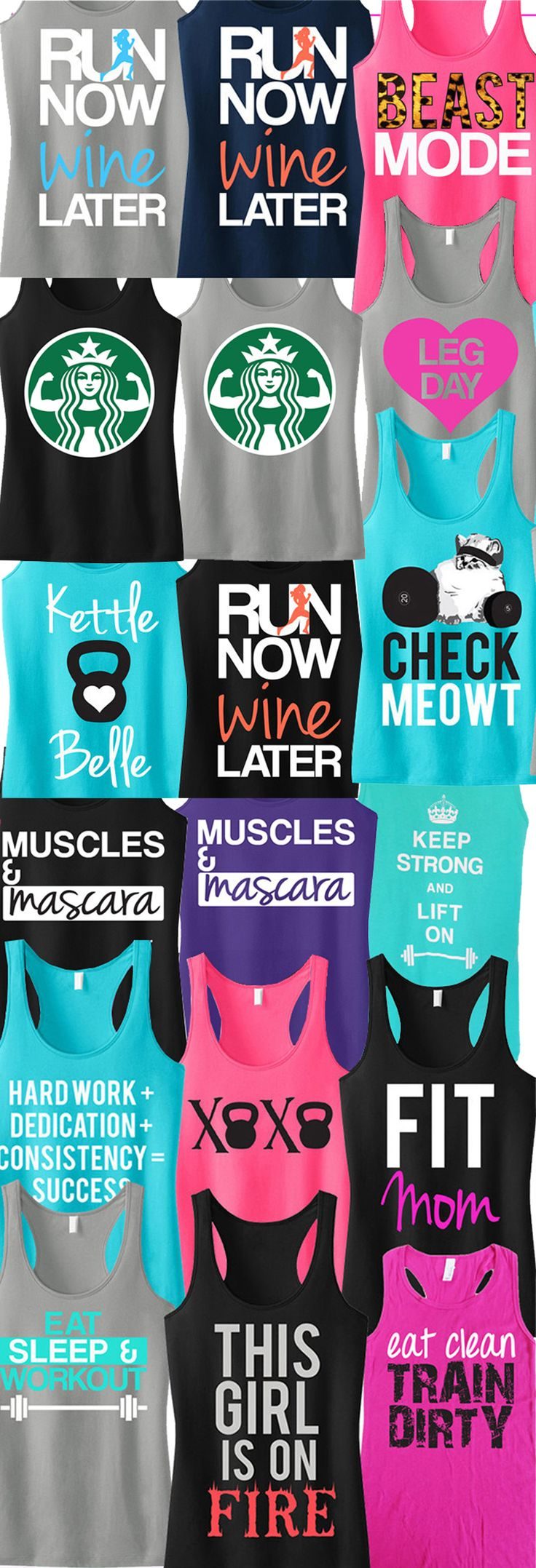 Totally ordered the Starbucks muscle shirts............................................................Pick any 3 tanks for only $63.95. NoBullWomanApparel on Etsy.