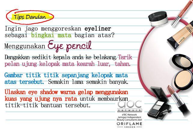 Belajar yuk bikin bingkai mata bagian atas dengan eye pencil & eye liner