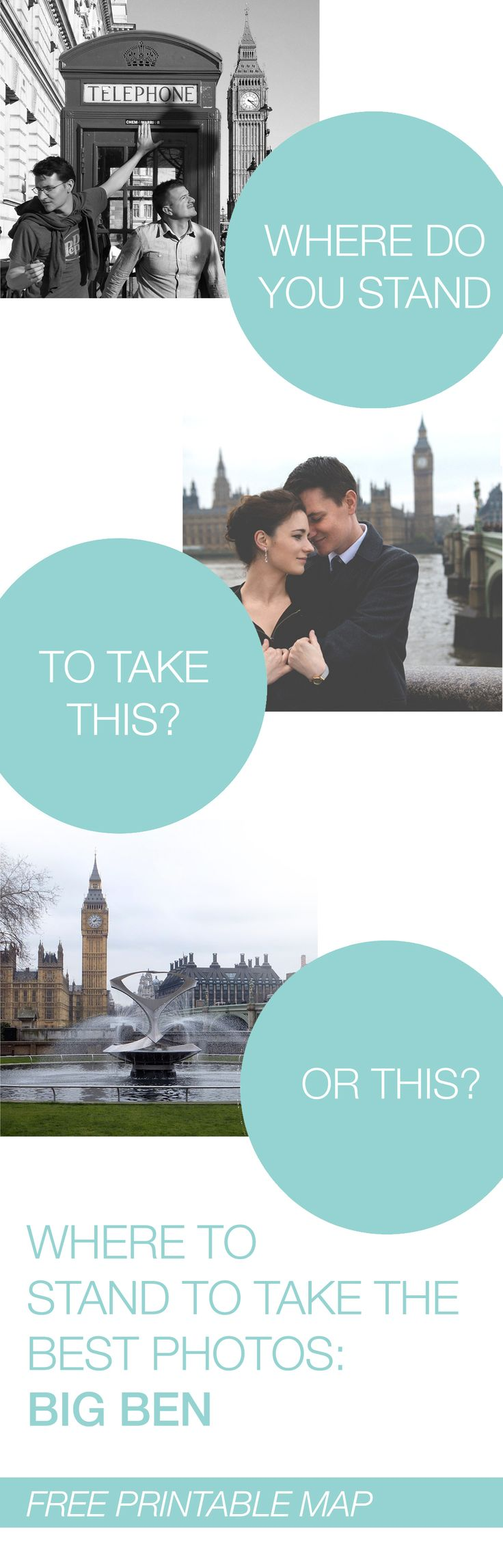 Where to Stand to Take the Best Travel Photos | Big Ben, London | Printable Map