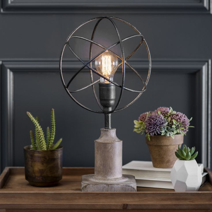 Give your rustic space an update with this edgy Edison bulb lamp.