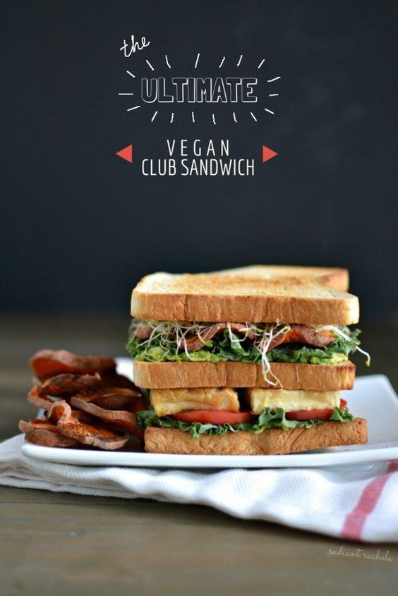 Vegan Club Sandwich.