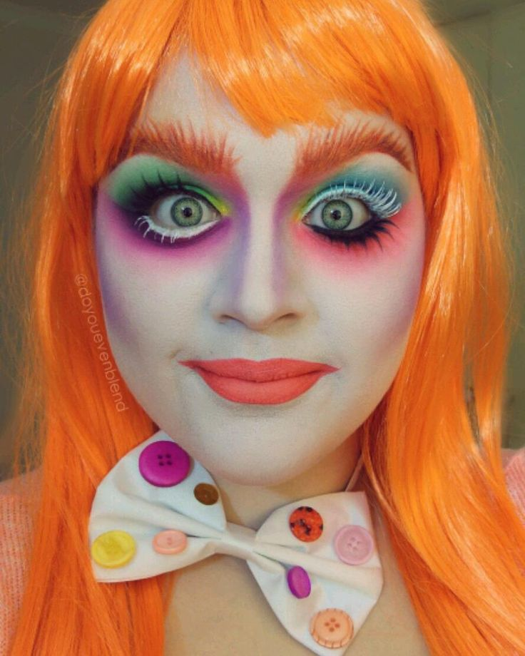 """You're not the same as you were before. You we're much more.... ""Muchier"".. You've lost your Muchness"" - The Mad Hatter. ------------------- PRODUCTS: @illamasqua Skin base 1 and 4.5 foundations mixed Loose translucent powder  Apex eyeshadow Ben Nye White eyeshadow @morphebrushes 35B palette @sugarpill Buttercupcake 2am and Love @inglot_australia 76 and 77 gel liners and @stargazerproducts Neon eyeshadows. Lip is @jeffreestarcosmetics Anna Nicole liquid lipstick  neon orange eyeshadow…"