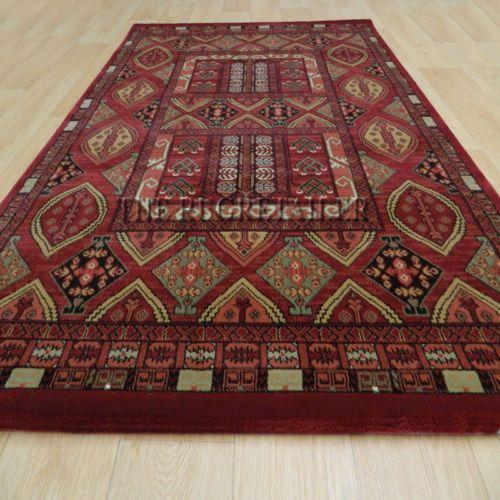 Oriental-Baluch-Red-Rugs-A-Traditonal-Tribal-Design-High-Quality-Wilton-Rug
