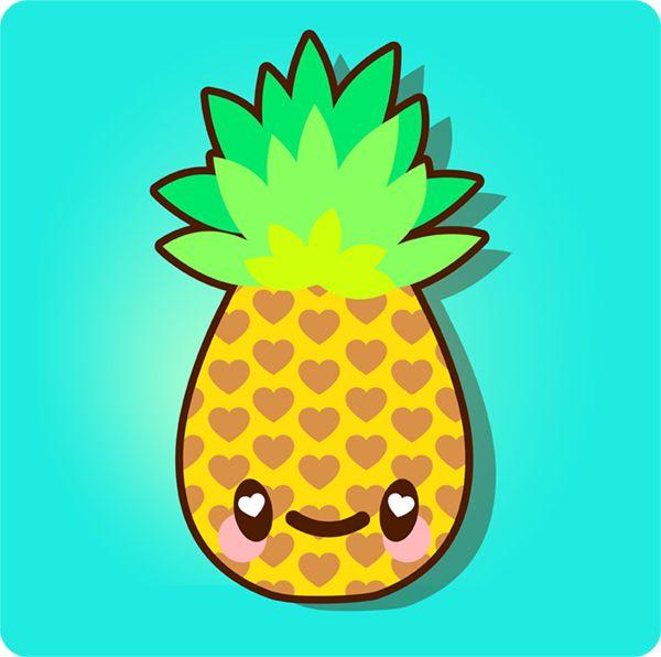 How to Draw a Simple, Super Kawaii Pineapple in Adobe Illustrator (via vector.tutsplus.com)