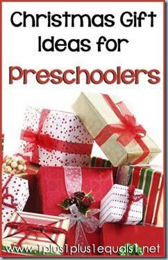 Christmas Gift Ideas for Preschoolers & Kindergartners from @{1plus1plus1} Carisa