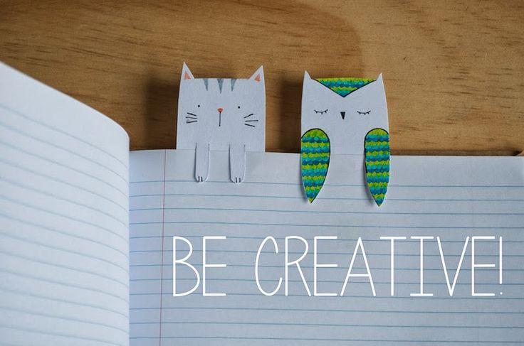 vanilla craft blog: DIY: Animal Bookmarks // Guest Post by Chloe