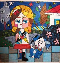 "Homage to "" Back Home "" by Romero Britto"