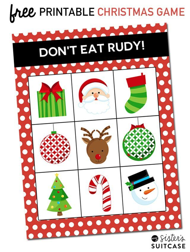 picture relating to Don't Eat Pete Printable named Printable Xmas Video game: Dont Consume Rudy Absolutely free printables