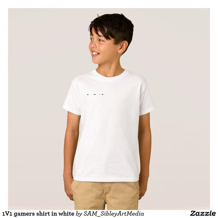 1V1 gamers shirt in white