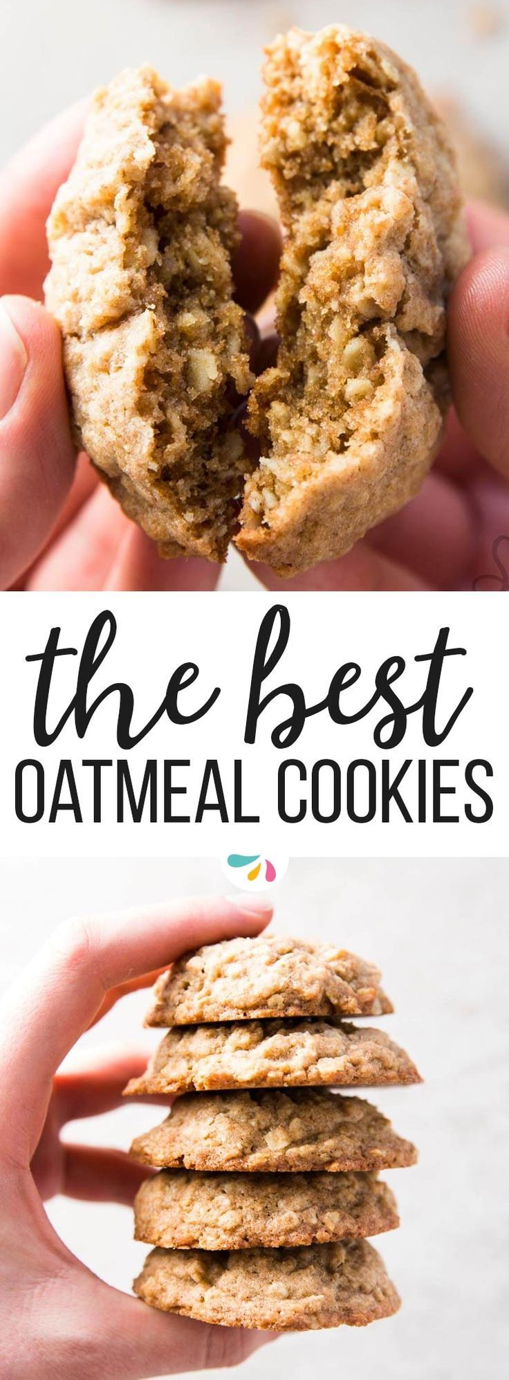 Learn how to make basic oatmeal cookies, completely from scratch! This tutorial will teach you how to make homemade one. This is a recipe for basic soft baked cookies, you can customize them with chocolate chips, raisins, cranberries or any way you like. Simple, easy instructions for homemade cookies! Made with just a handful of simple ingredients, like oats, whole wheat flour, butter and brown sugar. You can bake them straight away, or freeze the cookie dough.   #recipes #baking #cookies