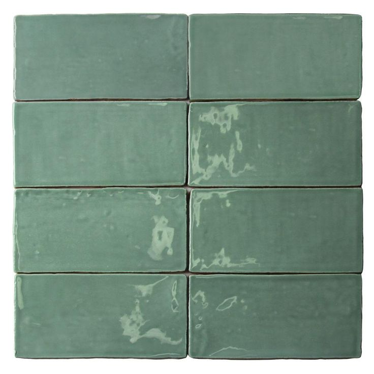 Ivy Hill Tile Catalina Green Lake 3 in. x 6 in. x 8 mm Polished Ceramic Subway Wall Tile (5.38 sq.ft./case)-EXT3RD101721