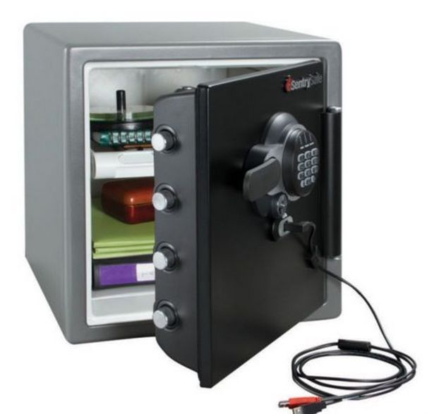 safety lock box digital electronic jewelry fire proof water security safes paper - Sentry Fire Safe