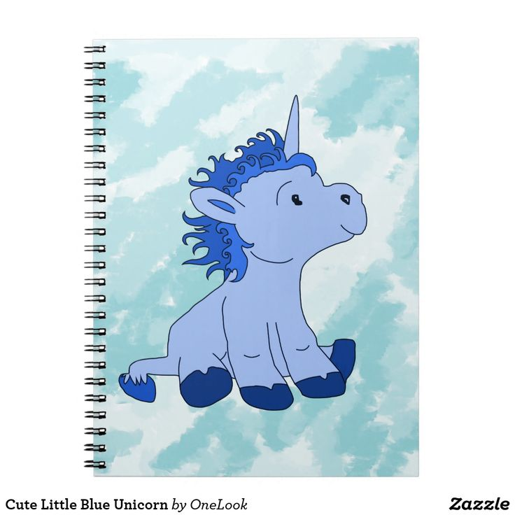 Cute Little Blue Unicorn