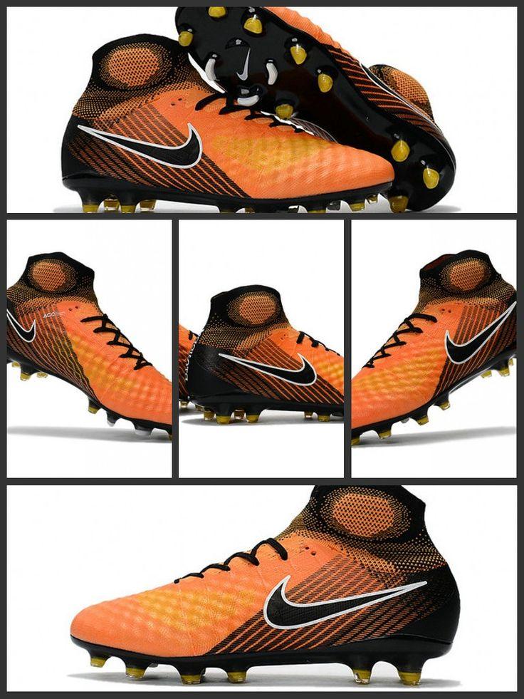 Le Scarpette da Calcio Nike Magista Obra 2 FG Arancione Giallo Nero magistasono progettate per controllare il gioco su campi naturali compatti. Un nuova Flyknit termoformata crea una tomaia 3-D testurizzata per un maggiore attrito sulla palla.