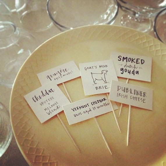 Cheese Charcuterie Labels By Masandmillie Great For A Wine Themed Shower Or Wedding