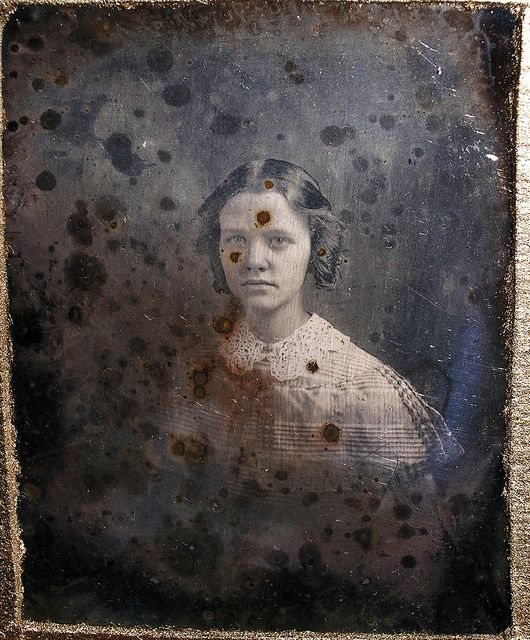 A perfectly aged tintype.