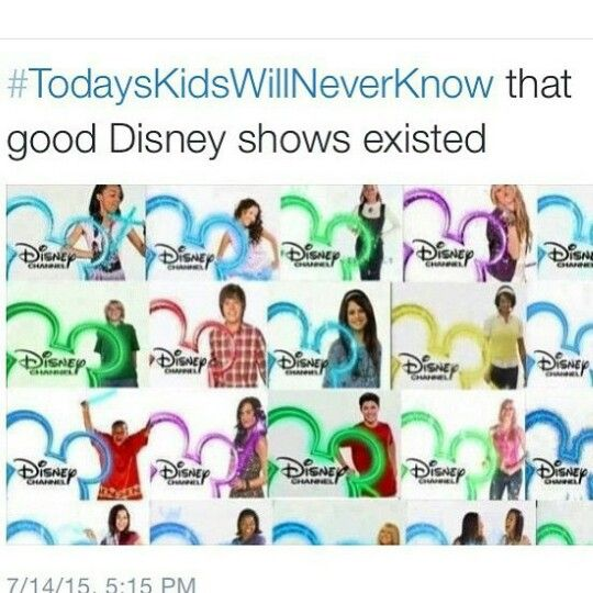 I miss the old logo! And Wizards of Waverly Place... And Zach .and Cody...lucky me i know they exist