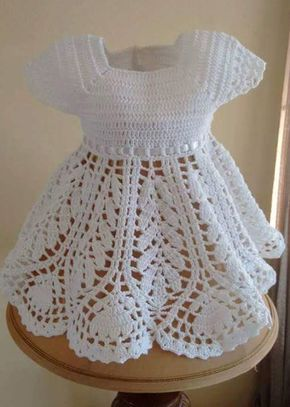 Craft Passions: BEAUTIFUL LOTUS BABY DRESS# Free # crochet  link h...                                                                                                                                                                                 More