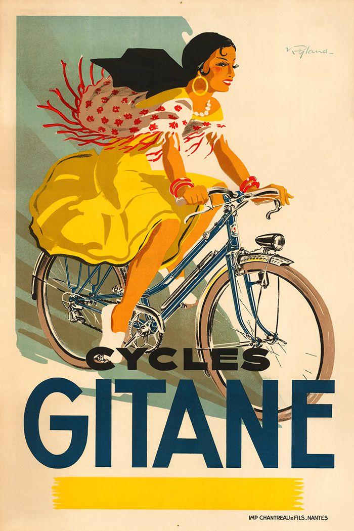 Cycles Gitane Poster | Vintage Bicycle Art | France