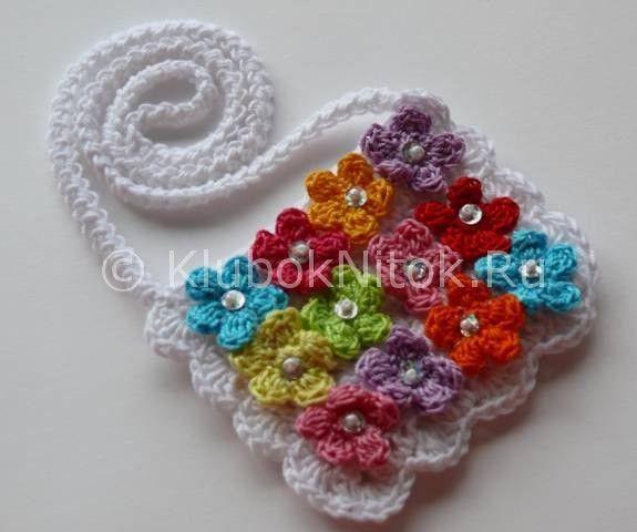 Детская сумочка Hello Kitty | Вязание для девочек | Вязание спицами и крючком. Схемы вязания.