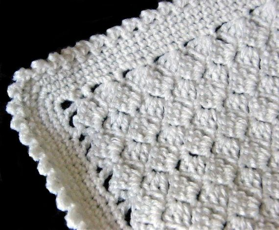 Handmade Crochet BasketWeave Style Stitch by Kellys2babywithlove, ?30 ...