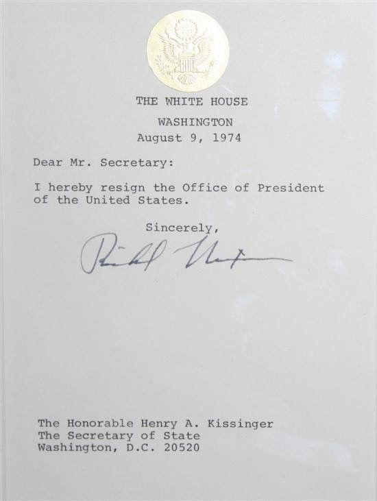 Nixon\u0027s Resignation Letter American HISTORY Resignation letter