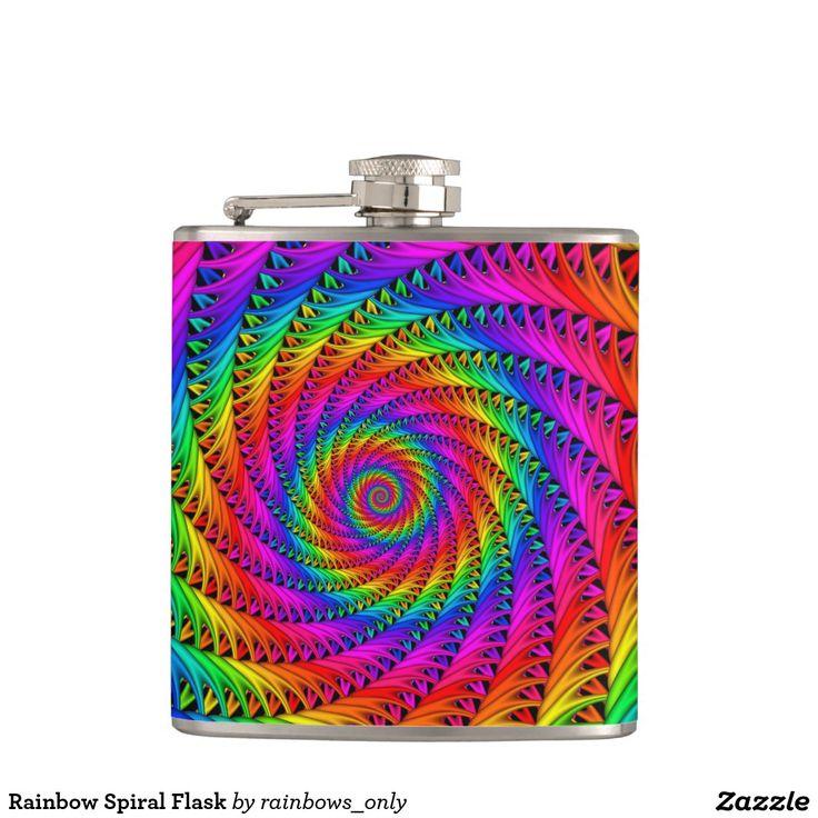 Rainbow Spiral Flask