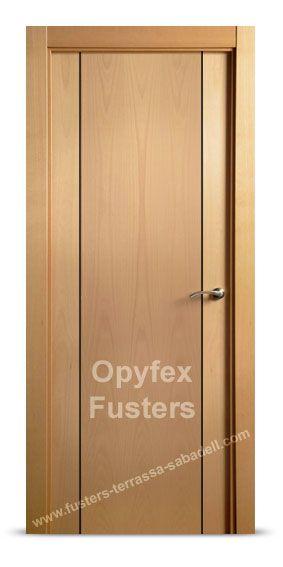 Puerta de madera para interior maciza modelo terrassa for Precio instalacion puertas interior