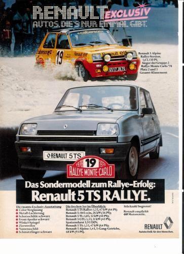 Renault 5TS Rallye - publ