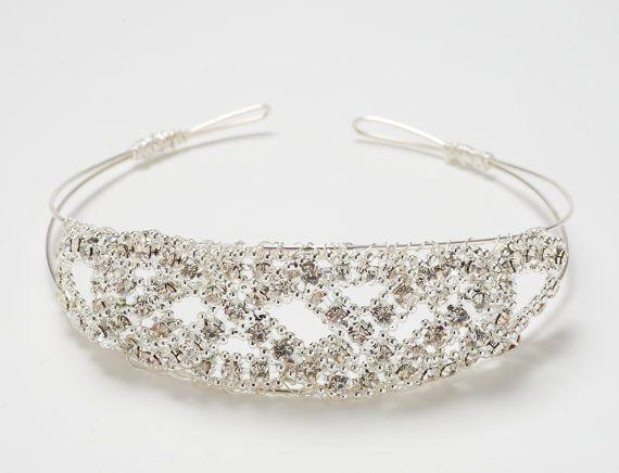 Holly  Diamante bridal bun Tiara Wedding Headband by FlorioDesigns, £30.00