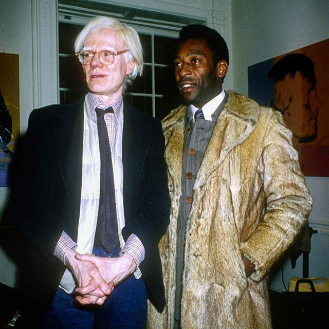 Pele & Andy Warhol 1979