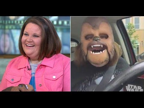 Chewbacca Lady & Her Kids Get More Masks | from Kohls | video - YouTube