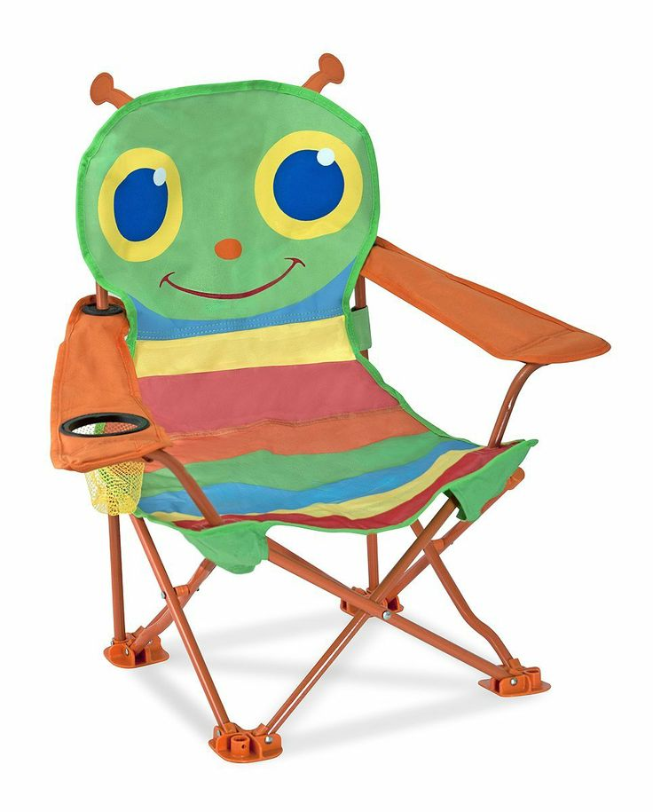 Melissa U0026 Doug Sunny Patch Happy Giddy Camp Chair With Armrest. Easy To Fold  And