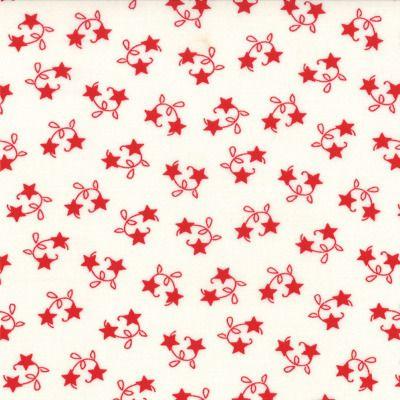 Winter Wonderland - Star Vine in Snow White (2874 12) // Juberry Fabrics