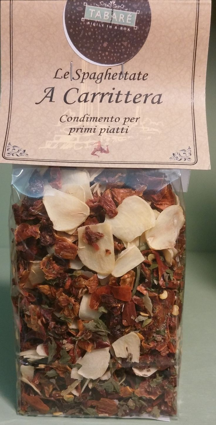 Carrittera Condiment. Perfect for cooking typical spaghetti of Sicilian cuisine #sicily #pasta #firstcourse #carrittera #food #sicilianfood #gourmet