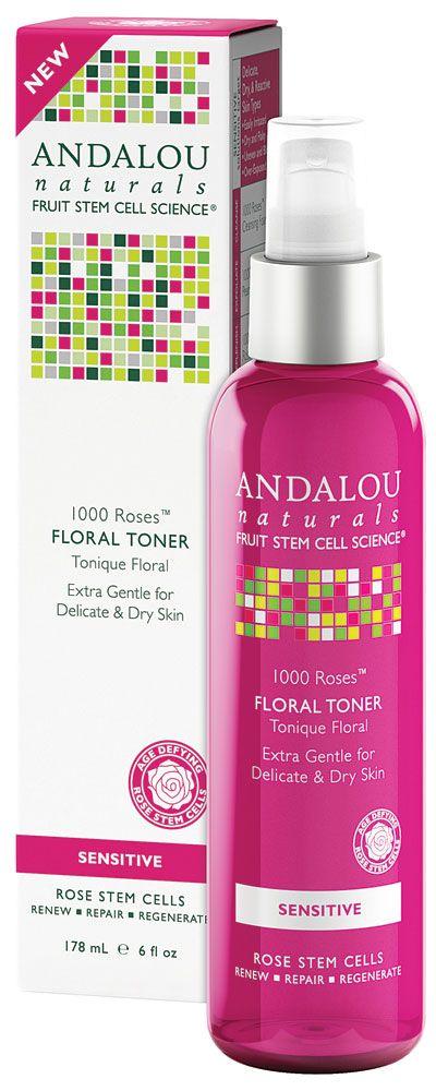 Andalou Naturals 1000 Roses™ Floral Toner Sensitive -- 6 fl oz