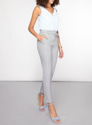Dorothy Perkins Tall mono dogtooth tapered trousers | Debenhams