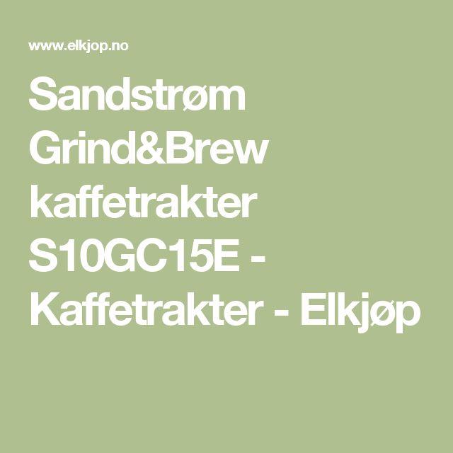 Sandstrøm Grind&Brew kaffetrakter S10GC15E - Kaffetrakter - Elkjøp