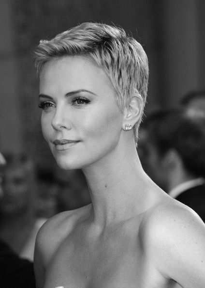 Charlize Theron     love her hair short!