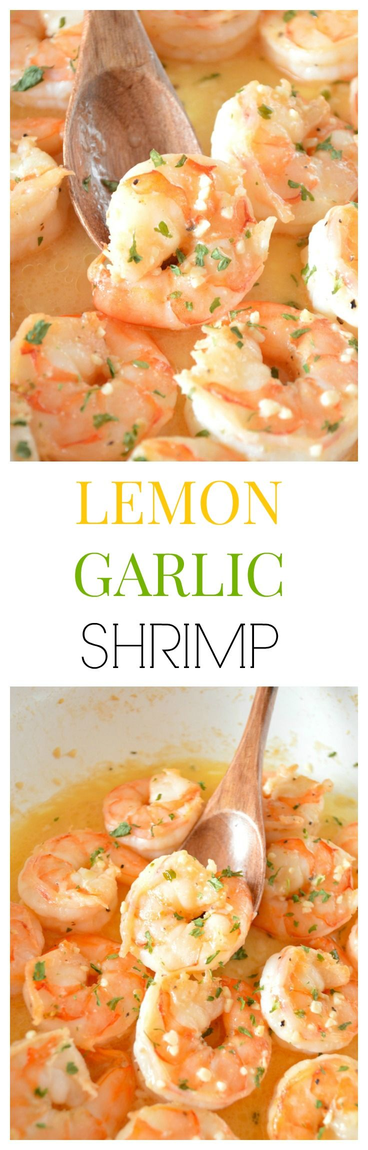 Lemon Garlic Shrimp - succulent shrimp drenched in a tangy buttery sauce packed with garlic and citrus lemon flavor!